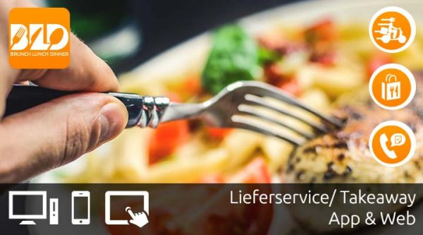 Lieferservice-Shop, Bestellshop, Bestellsystem, Essen bestellen, Lieferservice-Home-Delivery-Take-Away mit Brunch-Lunch-Dinner